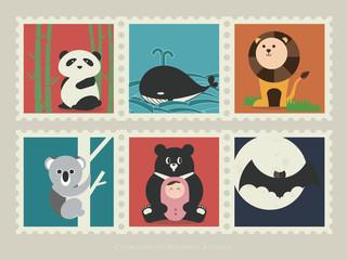 Stamps of mammal animal-1