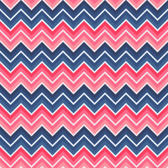 Red and blue colored chevron seamless background