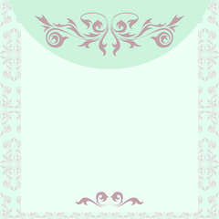 Vintage style invitation card template in pastel colors
