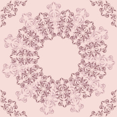 Vintage round  background in pastel colors