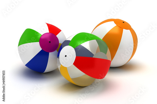 Three Beach Balls
