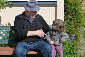 avec mon papy