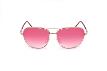 Fashionable pink sunglasses