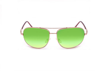 Fashionable green sunglasses