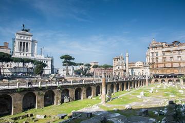Roman forum street