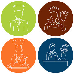 Hotel Staff Icons
