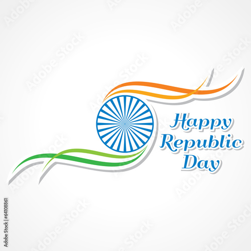 Vector illustration of Happy Republic Day banner