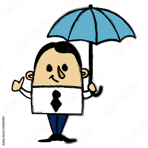 Businessman and Umbrella