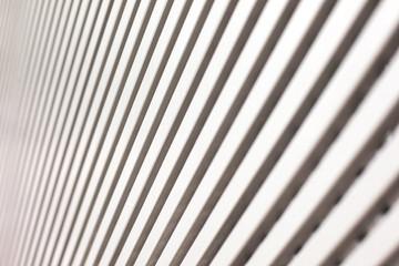 blurry white metal oblique lines