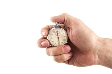 Stopwatch in hand