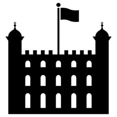 Vector illustration of Tower of London