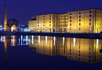 View of Albert Dock in Liverpool