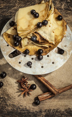 crepes with berry fruit