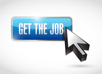 get the job button and cursor. illustration design
