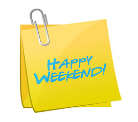 happy weekend post message illustration design