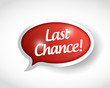 last chance message bubble illustration design
