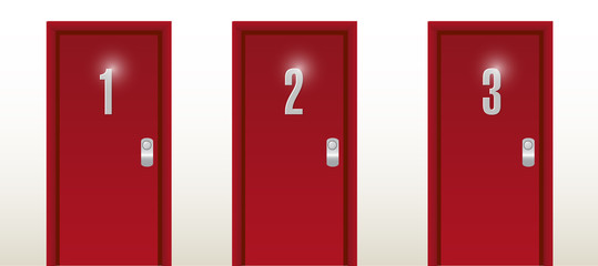 number doors entrance illustration design