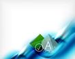 Blue aqua wave designed business poster