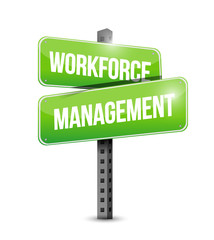 workforce management signpost illustration design
