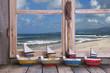 Sommerurlaub: Kreuzfahrtreise - Hintergrund Meer mit Booten