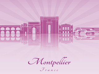 Montpellier skyline in purple radiant orchid