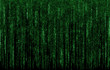 Green digital  code numbers in matrix style