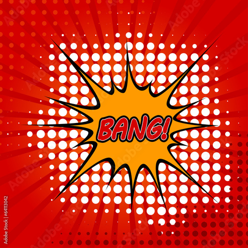 Bang Comic Speech Bubble