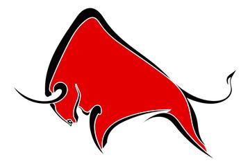 Red wild buffalo