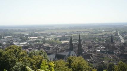Obernai, Elsass, Panoramaschwenk