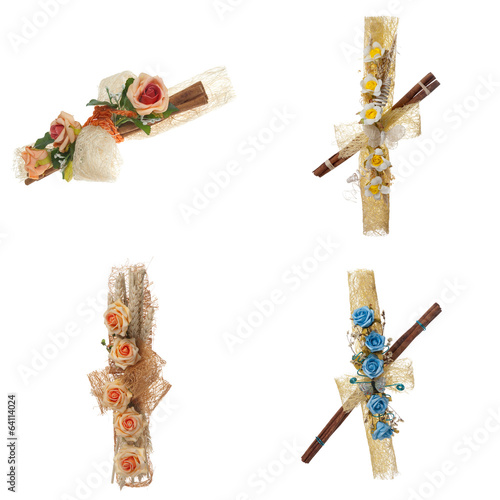 Set of four flower arrangement