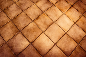 Background surface of vintage tiles