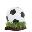 Classic soccerball on a piece of grass