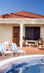 swimming pool resort cabanas Corn Island Nicaragua