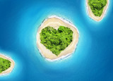 island heart shape