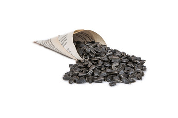 sunflower seeds in a paper envelope