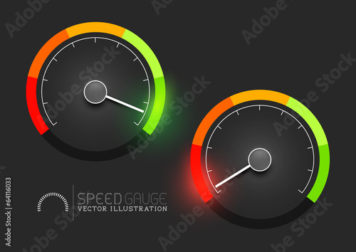 Speedometer Gauge Stages Vector