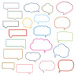 Colored Line Speech Bubbles