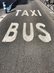 Bus and taxi only