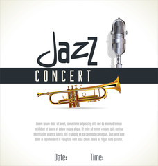 Music jazz background