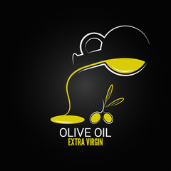 olive oil design menu background