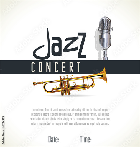 Music jazz background