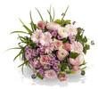 canvas print picture - Blumenstrauß in Rosa