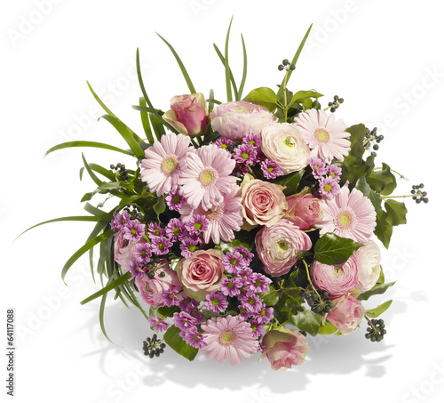 canvas print picture Blumenstrauß in Rosa