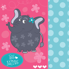 cute baby elephant vector illustration
