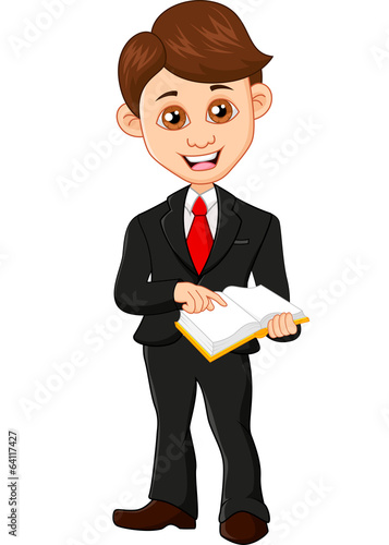 Businessman holding a book