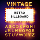 Fototapety Retro Billboard Vector