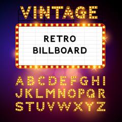 Retro Billboard Vector