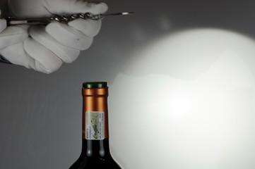 Weinflasche öffnen