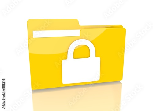 file folder with secure sign