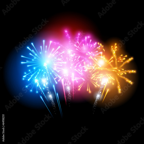 Bright Fireworks Display